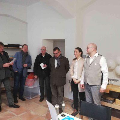 Begrüßung der Gäste durch Familie Wildensee