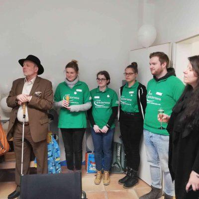 Das Team der Praxis Wildensee mit dem  Behindertenbeauftragten Thüringens