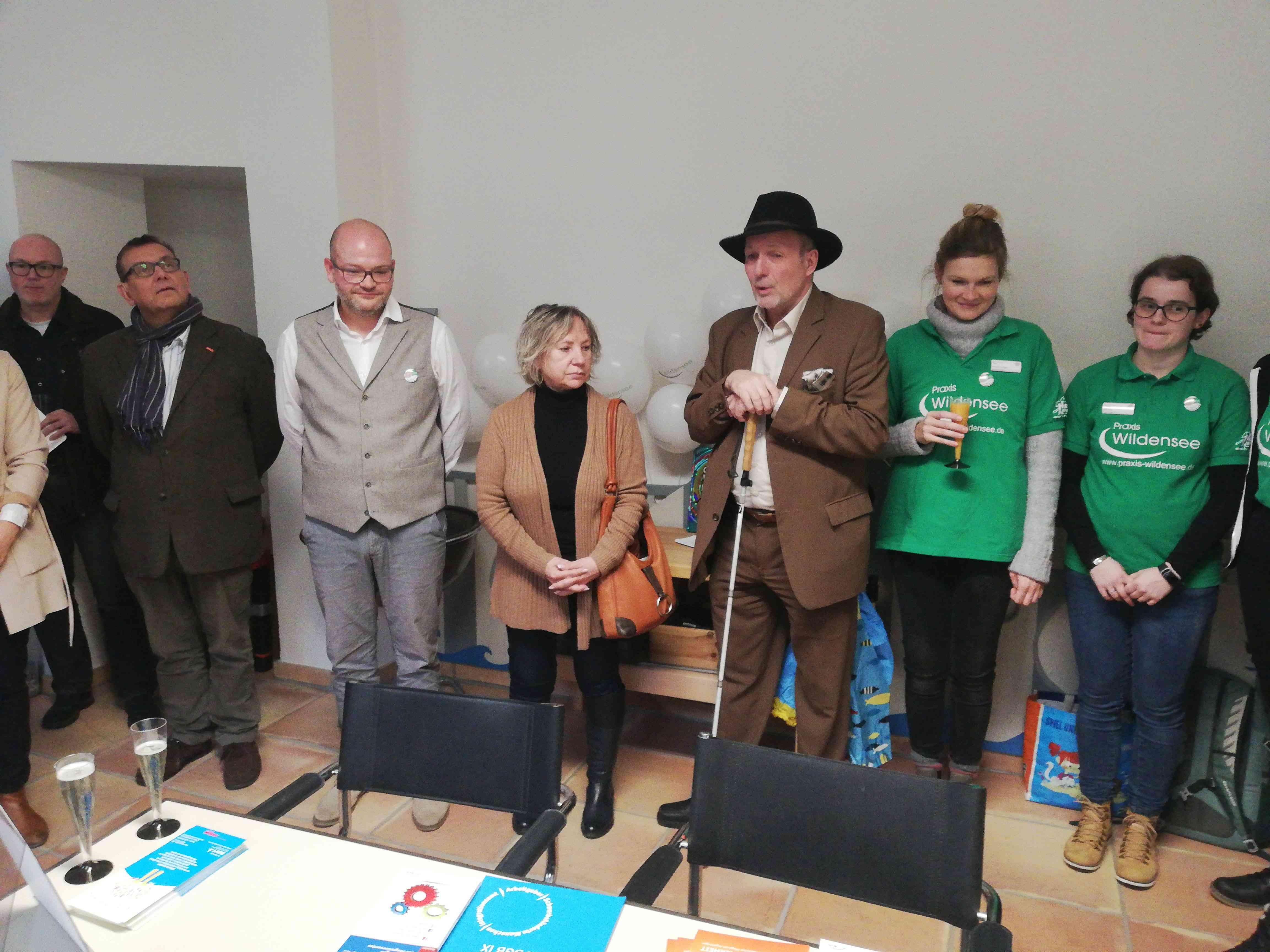 Eröffnung des Tags der offenen Tür durch den Behindertenbeauftragten und Herrn Wildensee