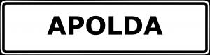 Schild Apolda