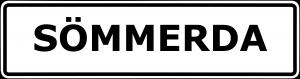 Schild Sömmerda