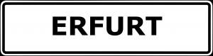 Schild Erfurt